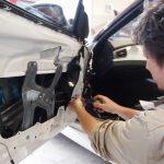 カーオーディオ施工でBMWZ4のスピーカー交換&デット二ングを施工させて頂きました。