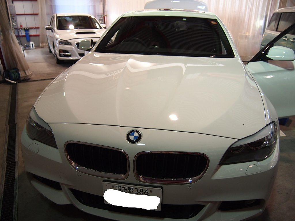 BMW7にフロントスピーカー&座席下ウーハー交換をしました。