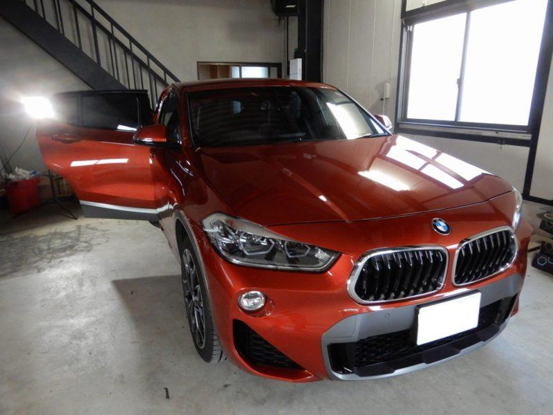 BMW X2 をデッドニング施工