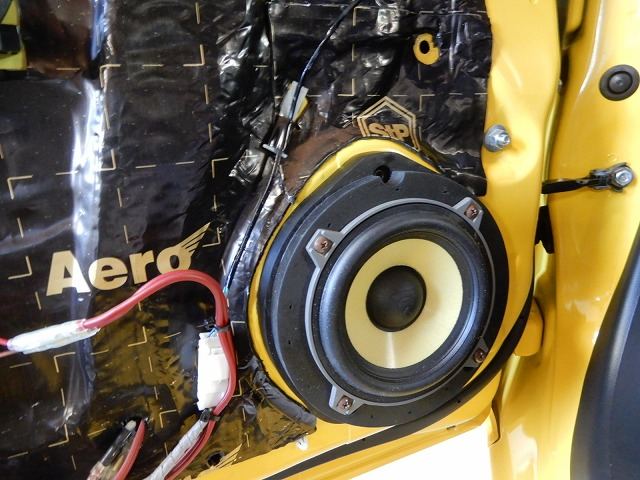 ホンダS660にデッドニング・スピーカー交換施工 スピーカー交換の画像