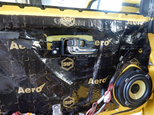 ホンダS660にデッドニング・スピーカー交換施工 制振材の画像