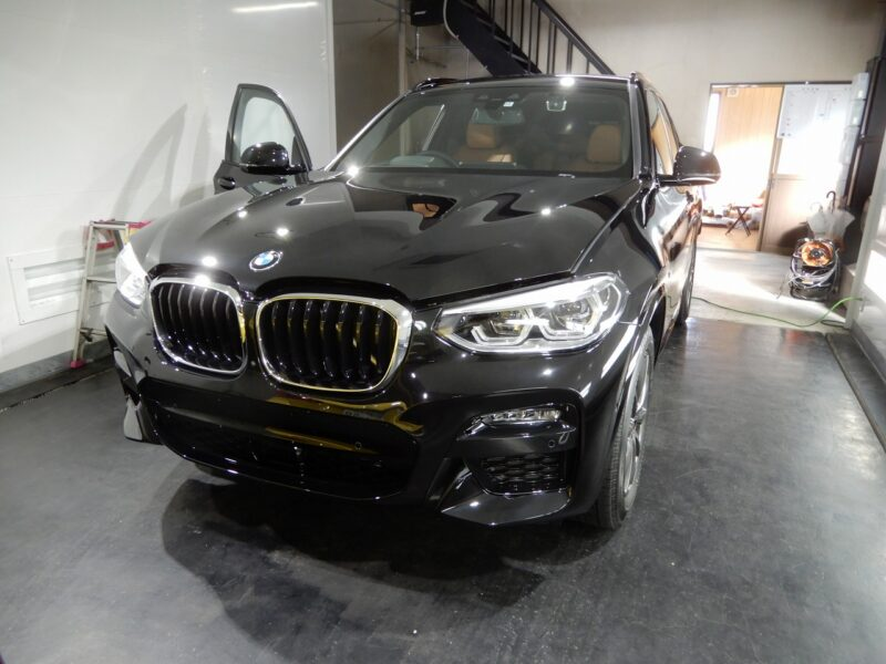 BMW フロントドアデットニング スピーカー交換を施行させていただきました