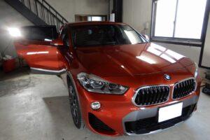 BMWX2 ドアデッドニング施工