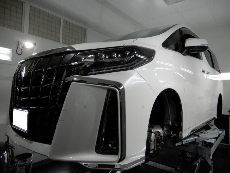 トヨタ アルファード デッドニング タイヤデッドニング エンジンルームデッドニング 施工 施工画像  FOCAL