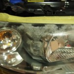 ボルボV70 ヘッドライトコートを施工しました。