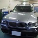BMWX3の高級ガラスコーティングを施工させていただきました。