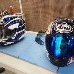 ヘルメットにガラスコーティングを施工しました。