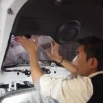 BMWミニ 断熱フィルムリアセットに施工させていただきました。