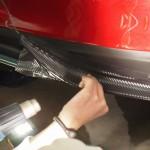 レクサスIS、リアバンパーへカーボンフィルムを施工させていただきました。