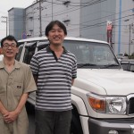東京都よりご来店のランクル70にミラースモーク断熱フィルムを施工