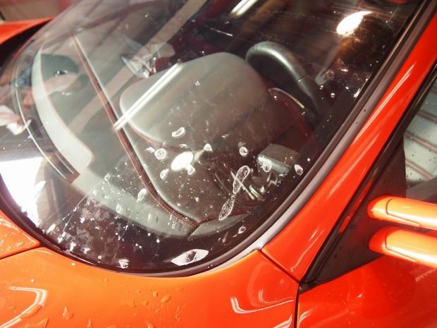 千葉県柏市よりご来店のフェラーリF430にフロント飛び石保護フィルム「クリアプレックスを施工しました。」