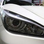 埼玉県からお越しの日産フーガのドアミラーにグロスカーボンラッピングを施工いたしました。