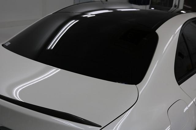 メルセデスベンツC43AMG ルーフ&リアスポイラーラッピング 東京都中野区よりご来店いただきました。