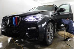 BMW X3にプロテクションフィルム