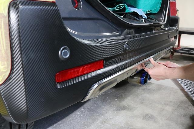 スズキ スペーシアギアにカーボンラッピングを施工、仕上げの画像