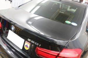 BMW 320iにLFTウィンドウフィルムを施工後の画像
