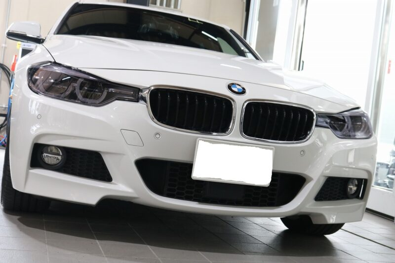 BMW3 LFTウィンドウフィルム プロテクションフィルム施工画像