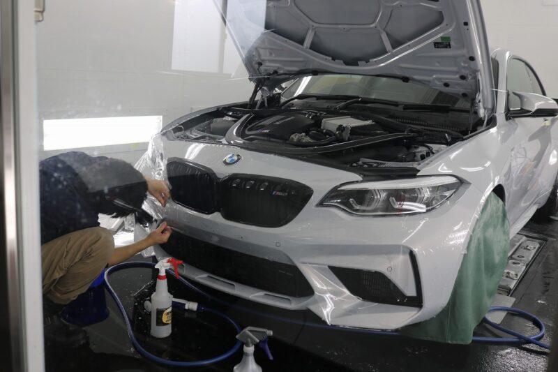 BMW M2にプロテクションフィルムの施工です(^^) 千葉県 XPEL