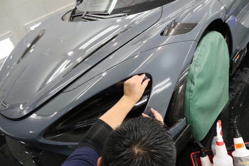 マクラーレン765LTのボディ全体にプロテクション施工致しました。 千葉県 東京都 限定車 XPEL ULTIMATE PLUS