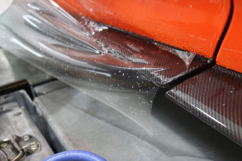 お待たせ致しました(^^)プロテクション施工したマクラーレン600LTの仕上がりをご覧ください 東京都 千葉県 茨木県 XPEL ULTIMATE PULS カーボンパーツ 下地処理