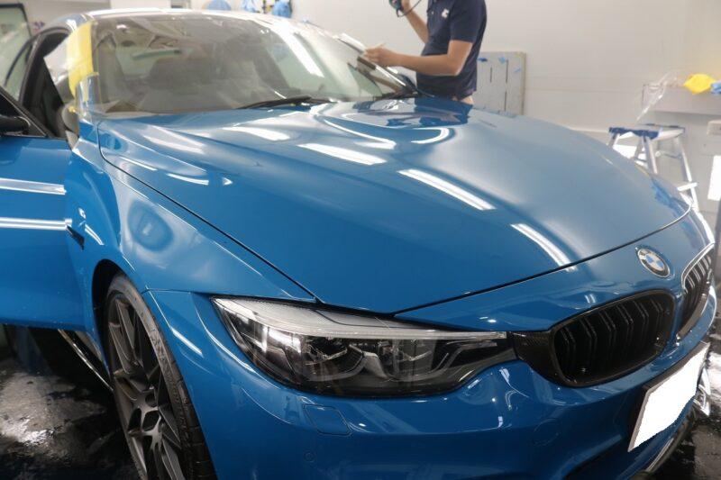 BMW M4 LFTフィルム カーフィルム 施工