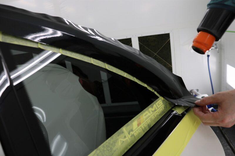メルセデスベンツ AMG C63S モールラッピング メッキモール