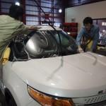 フォードエクスプローラ―にガラスコーティングを施工しました。