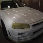 江戸川区よりご来店頂きました日産GTRにエシュロンNANO-FILを施工させて頂きました。