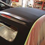 新車FIAT500の幌に、コーティングを施工させていただきました