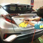 千葉県からご来店のトヨタC-HRへ超滑水性エシュロンガラスコーティングを施工させていただきました