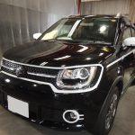 千葉県からお越しの新車スズキイグニスに疎水性のセラミックプロ9H1層コーティングを施工させていただきました。