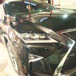 千葉県からお越しの新車レクサスRXに疎水性のセラミックプロ9H5層コーティングと他オプション多数施工させていただきました。