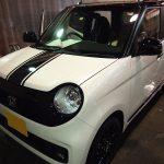 東京都からお越しの新車ホンダN-ONEに疎水性のセラミックプロ9Hを施工させていただきました。
