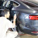 千葉県からお越しの新車アウディA5に親水性のカーコーティング『セラミックシールド』を2層コーティングさせていただきました。