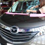 千葉県からご来店の新車マツダ・ビアンテにボディと窓ガラスコーティング施工させていただきました