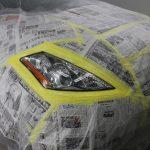 千葉県からお越しの日産ムラーノにヘッドライトコートを施工させていただきました。