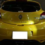 ルノーメガーヌRS、4年前にクォーツガラスコーティングをしましたが、新車の様に綺麗な状態を保っております。