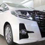 千葉県船橋市からお越しの新車トヨタアルファードに最高被膜硬度9H!『セラミックプロ9H』を1層コート施工させていただきました。