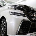 千葉県千葉市からお越しの新車ヴェルファイアに滑水性のカーコーティング『エシュロンナノフィル』を施工させていただきました。