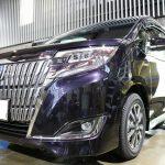 千葉県山武市からお越しの新車トヨタエスクァイアに親水性のカーコーティング『セラミックシールド』を5層コート施工させていただきました。