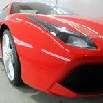 フェラーリ488スパイダーへ驚異のセラミックコーティングCeramicPro9Hコーティングを施工させていただきました。