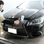 洗車傷だらけのレクサスLSにクォーツガラスコーティングプレミアムフルコースをご依頼頂きました。