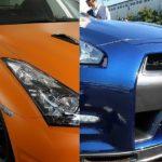 神奈川県横浜市の日産GTRがオレンジから青へ!!ラッピングを剥がして次世代のボディコーティング施工させて頂きました!