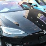 千葉県松戸市よりお越しの新車テスラmodelSに耐擦り傷性に優れたガラスコーティングを施工させて頂きました!