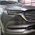 神奈川県川崎市よりお越しの新車マツダCX-8に親水性のカーコーティング『クォーツガラスコート』を施工しました。