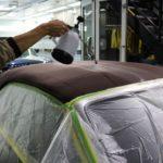 千葉県市川市からお越しの新車アウディA5カブリオレに幌コーティングを施工しました。