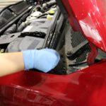 濃色車に人気のボディコーティングセラミックシールドをBMWミニに施工中!千葉県船橋市よりT様ありがとうございます。