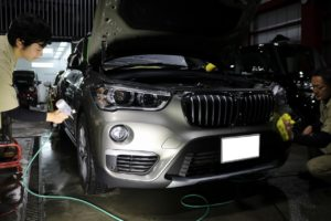 BMWX1 セラミックコーティング補修