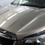 千葉県千葉市よりお越しの新車フォレスターに親水性の『クォーツガラスコート』を施工させていただきました。