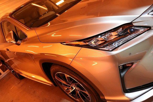 高級感と気品を兼ね備えたセラミックコーティング(ceramicpro9H)を新車レクサスRXに施工致しました。東京都よりS様ありがとうございます。